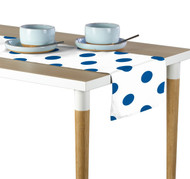 "3"" Royal Blue Dots Milliken Signature Table Runner - Assorted Sizes"