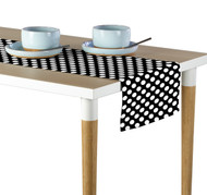 White Dots on Black Milliken Signature Table Runner - Assorted Sizes