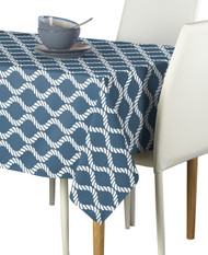 Wavy Ropes Blue Milliken Signature Rectangle  Tablecloths