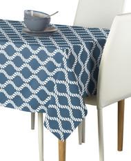 Wavy Ropes Blue Milliken Signature Rectangle  Tablecloths
