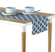 Wavy Ropes Blue Milliken Signature Table Runner - Assorted Sizes