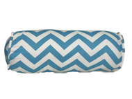 "Aqua Blue Chevron Bolster Pillow Cover 6""x16"""