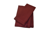 Hemstitch Dinner Napkins - Burgundy 20x20