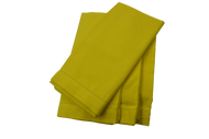 Hemstitch Dinner Napkins - Yellow 20x20
