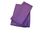 Hemstitch Dinner Napkins - Purple 20x20