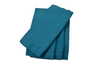 Hemstitch Dinner Napkins - Turquoise 20x20