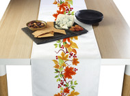 Autumn Leaves Border Milliken Signature Table Runner - Assorted Sizes