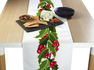 Christmas Holly  Border Milliken Signature Table Runner - Assorted Sizes