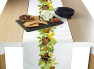 Pine Cones & Leaves Border Milliken Signature Table Runner - Assorted Sizes