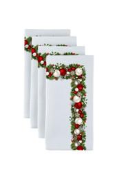 "Christmas Garland Border Milliken Signature Napkins 18""x18"" 1 Dozen"