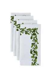 """Mistletoe Border Milliken Signature Napkins 18""""x18"""" 1 Dozen"""