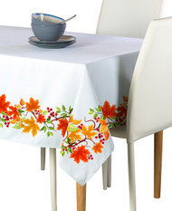 Autumn Leaves Border Milliken Signature Rectangle Tablecloths