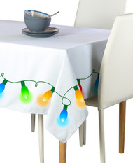 Christmas Lights Border Milliken Signature Rectangle Tablecloths