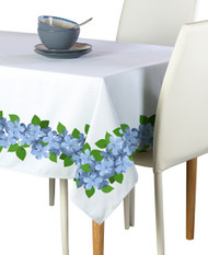 Forget Me Nots Garland Border Milliken Signature Rectangle Tablecloths