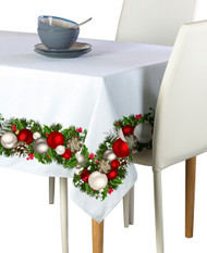 Christmas Garland Border Milliken Signature Rectangle Tablecloths