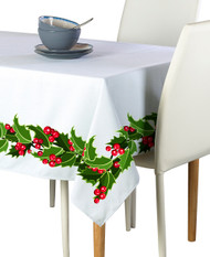 Christmas Holly Border Milliken Signature Rectangle Tablecloths