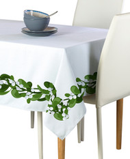 Mistletoe Border Milliken Signature Rectangle Tablecloths