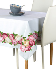 Peonies Garland Border Milliken Signature Rectangle Tablecloths