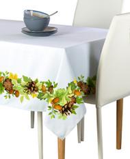 Pine Cones & Leaves Border Milliken Signature Rectangle Tablecloths