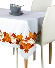 Pumpkin Border Milliken Signature Rectangle Tablecloths