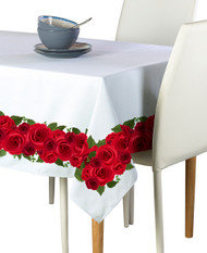 Rose Garland Border Milliken Signature Rectangle Tablecloths