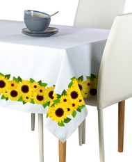 Sunflower Garland Border Milliken Signature Rectangle Tablecloths