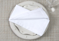 "White Kora Cotton Collection 20""x20"" Napkins"