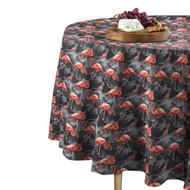 Abstract Flamingos Round Tablecloths