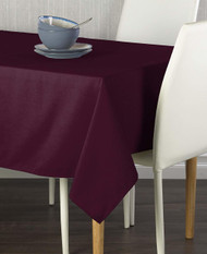 "Milliken Signature Solid Burgundy 60""x102"" Tablecloth"
