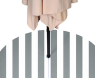 Gray & White Cabana Outdoor Waterproof Tablecloths