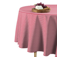 American Red Stripes Round Tablecloths