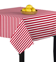 American Red Stripes Square Tablecloths