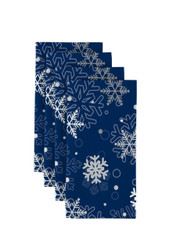 "Winter Blue Snowflakes Napkins 18""x18"" Dozen"