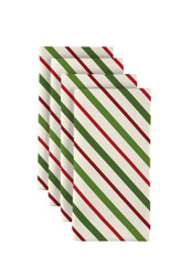 "Christmas Green & Red Diagonal Stripe Napkins 18""x18"" Dozen"
