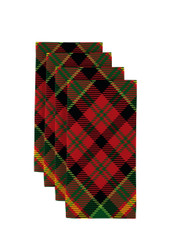 "Christmas Plaid Red & Green Napkins 18""x18"" Dozen"