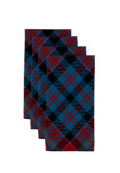 "Winter Plaid Blue Napkins 18""x18"" Dozen"
