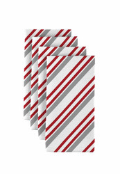 "Peppermint Stripe Napkins 18""x18"" Dozen"