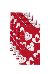 "Tangled Hearts Red Napkins 18""x18"" 1 Dozen"