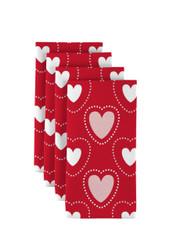 "Hearts in Stitches Red Napkins 18""x18"" 1 Dozen"