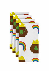 "Pot of Gold Rainbows Napkins 18""x18"" 1 Dozen"