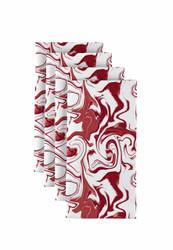 "Red Marble Milliken Signature Napkins 18""x18"" 1 Dozen"