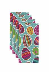 "Vibrant Easter Eggs Milliken Signature Napkins 18""x18"" 1 Dozen"