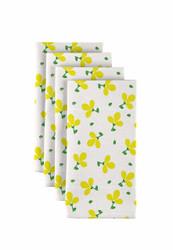 "Yellow Spring Flowers Milliken Signature Napkins 18""x18"" 1 Dozen"