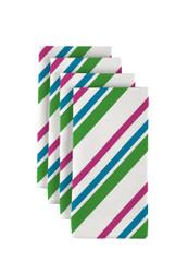 "Spring Diagonal Stripe Milliken Signature Napkins 18""x18"" 1 Dozen"