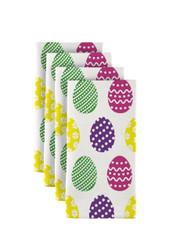 "Colorful Fun Easter Eggs Milliken Signature Napkins 18""x18"" 1 Dozen"