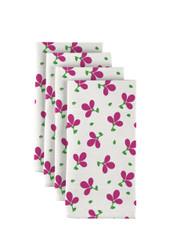 "Pink Spring Flowers Milliken Signature Napkins 18""x18"" 1 Dozen"