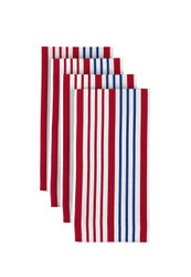 "Red & Blue Multi Stripe Milliken Signature Napkins 18""x18"" 1 Dozen"
