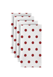 "Red Nautical Dots Milliken Signature Napkins 18""x18"" 1 Dozen"