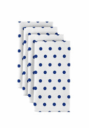 "Blue Nautical Dots Milliken Signature Napkins 18""x18"" 1 Dozen"