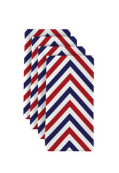 "Red, White & Blue Chevron Milliken Signature Napkins 18""x18"" 1 Dozen"